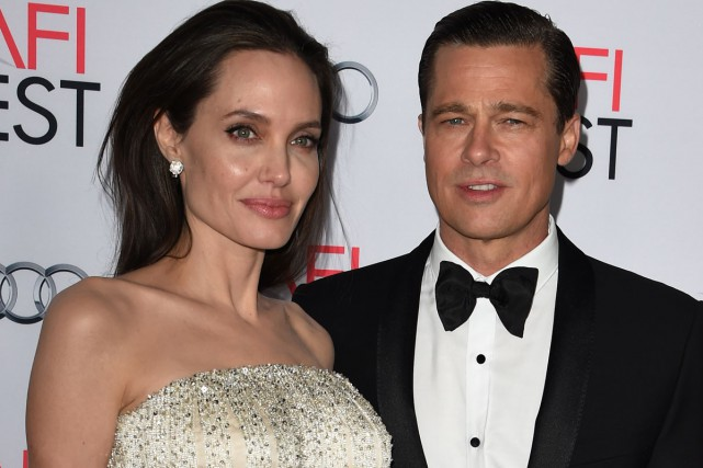 Angelina Jolie et Brad Pitt à la première... (PHOTO ARCHIVES AFP)