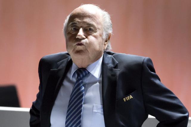 Le président démissionnaire de la FIFA, Joseph Blatter.... (Photo Fabrice Coffrini, archives AFP)