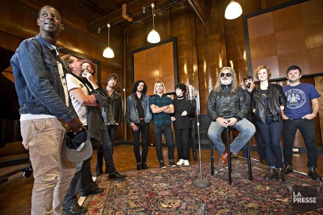 Plusieurs artistes ont participé à cet album de... (PHOTO PATRICK SANFAÇON, LA PRESSE)