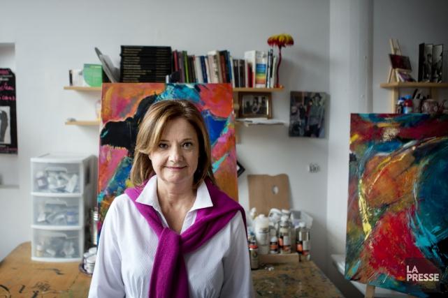 La peintre Suzanne Coupal présentera Rose est la nuit, sa quatrième... (PHOTO MARCO CAMPANOZZI, LA PRESSE)