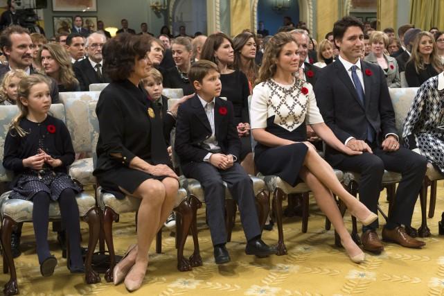 Justin Trudeau, lors de la cérémonie d'assermentation le... (Archives La Presse Canadienne)