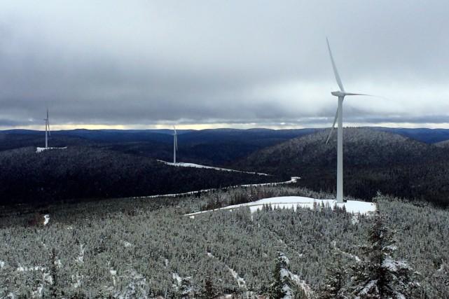 Les 37 éoliennes du Mont-Rothery commenceront à alimenter... (Collaboration spéciale Geneviève Gélinas)