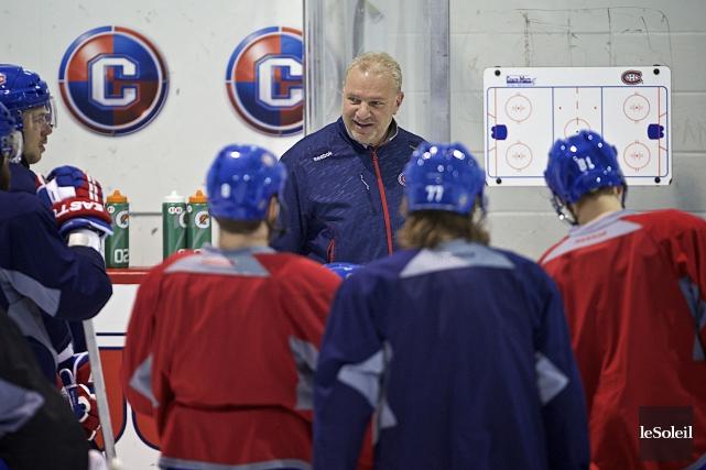 Depuis son retour à Montréal, Michel Therrien est... (Photothèque Le Soleil)