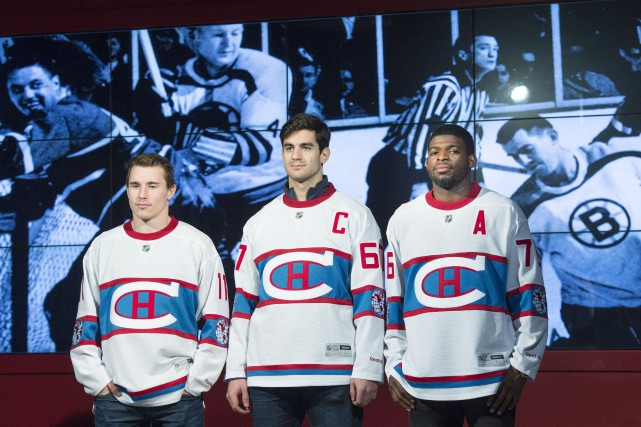 Brendan Gallagher, Max Pacioretty et P.K. Subban ont... (La Presse Canadienne, Paul Chiasson)