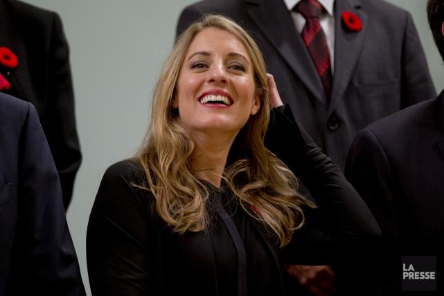 La ministre du Patrimoine canadien, Mélanie Joly, est... (David Boily, La Presse)