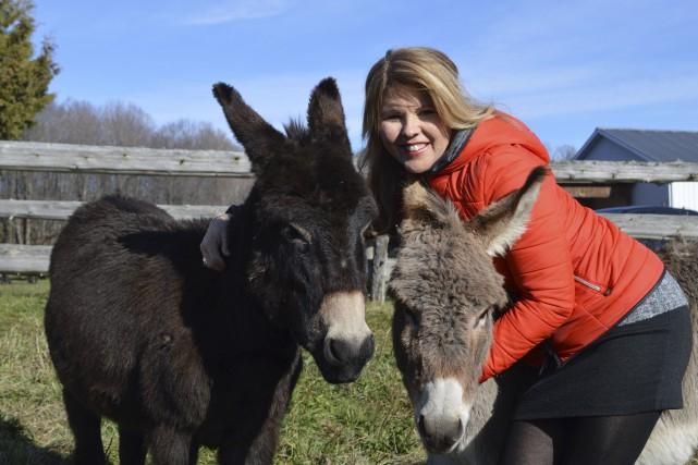 Diane George pratique un élevage pour le moins... (Benoit Sabourin, LeDroit)