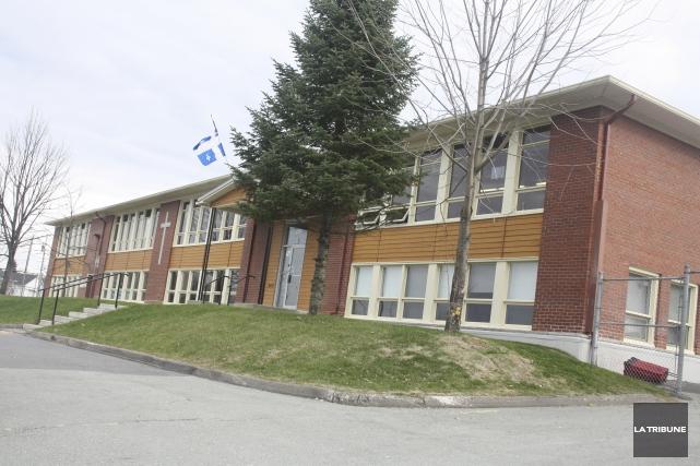 L'école Saint-Pie-X, dans l'est de Magog, a atteint... (La Tribune, Jean-François Gagnon)