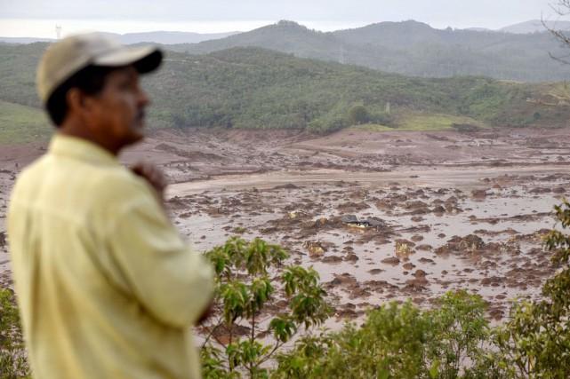 Bento Rodrigues, village peuplé d'environ 600 habitants, en... (Douglas Magno, AFP)