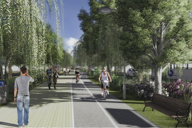 Maquette du futur boulevard Arthur-Rousseau sur les terrains...