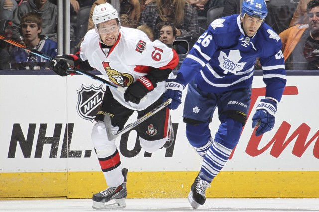 Mark Stone effectuera un retour au jeu en... (Archives AFP/Getty Images)