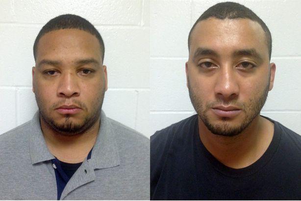Derrick Stafford etNorris Greenhouseont été suspendus de leurs... (PHOTO FOURNIE PAR LA POLICE D'ÉTAT DE LA LOUISIANE)