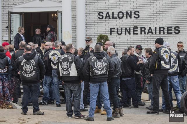 Plusieurs groupe de motards dont les Hells Angels... (La Presse, Édouard Plante-Fréchette)