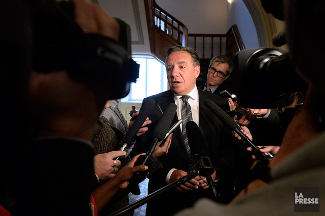 François Legault, le chef de la Coalition avenir... (PHOTO BERNARD BRAULT, ARCHIVES LA PRESSE)