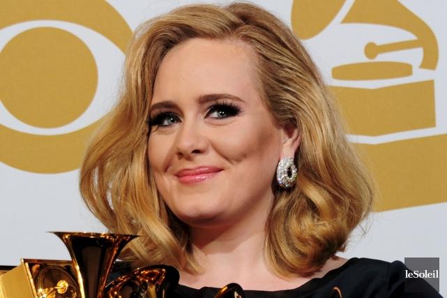 Adele en 2012 alors qu'elle a reçu six... (Photothèque Le Soleil)
