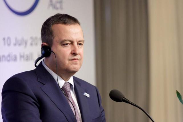 Le chef de la diplomatie serbe, Ivica Dacic,... (ARCHIVES REUTERS)