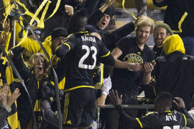 Kei Kamara a célébré son but gagnant avec... (Photo USA Today)