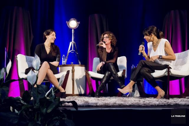 Au Salon Féminin Pluriel, la chanteuse Florence K... (Imacom, Jessica Garneau)