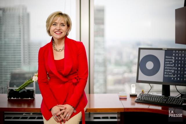 Joëlle Boisvert, associée-directrice du cabinet d'avocats Gowlings... (PHOTO DAVID BOILY, LA PRESSE)