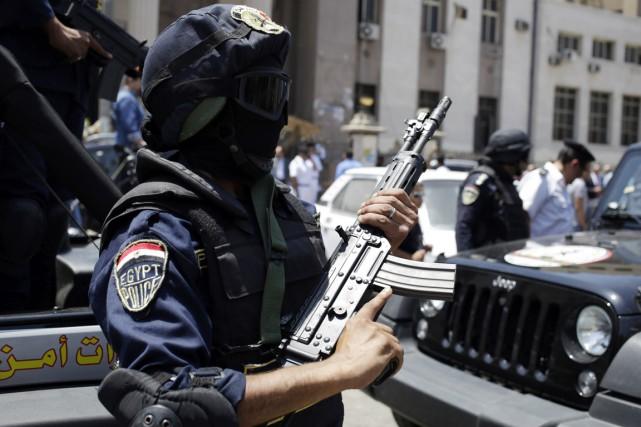 Ashraf Ali Ali Hassanein al-Gharabli, présenté comme «un... (PHOTO ASMAA WAGUIH, ARCHIVES REUTERS)
