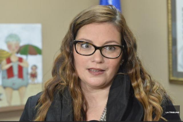 Karine Vallières... (Archives La Tribune, Maxime Picard)