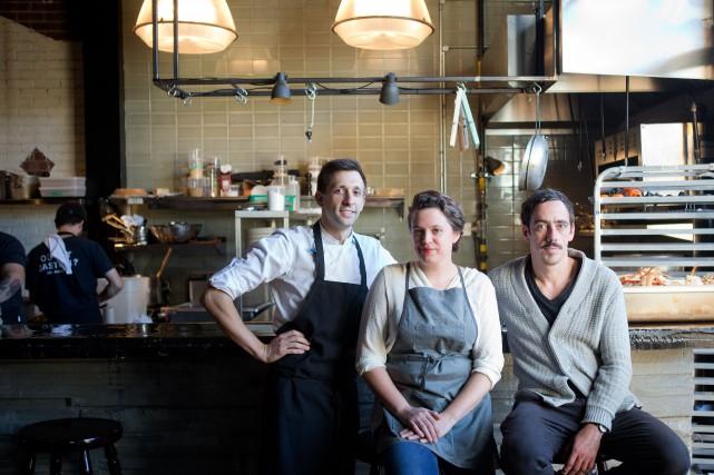 Les propriétaires du restaurant Manitoba, Elisabeth Cardin et... (PHOTO MARCO CAMPANOZZI, LA PRESSE)
