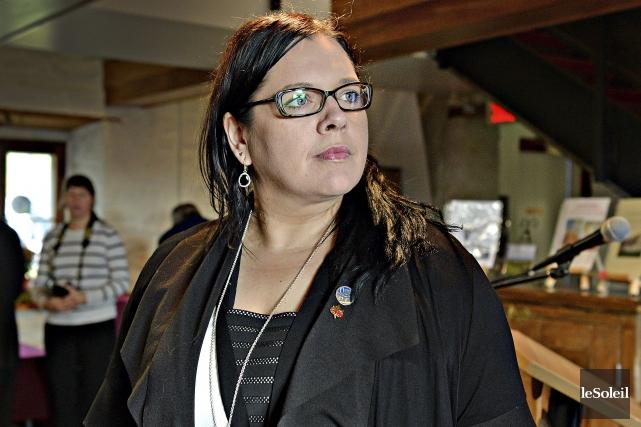 La députée libérale Caroline Simard.... (Le Soleil, Patrice Laroche)