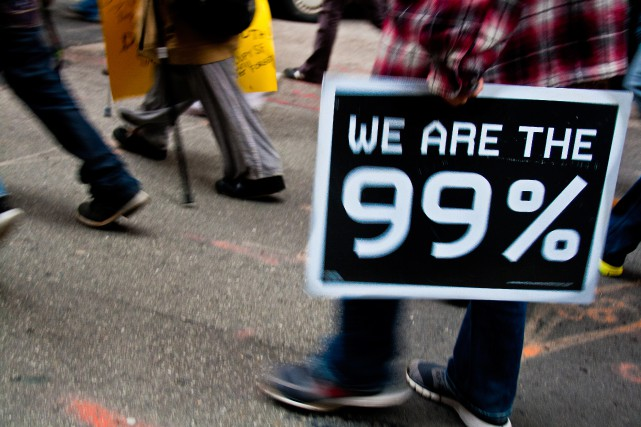 « Nous sommes le 99 % », le slogan du mouvement... (PHOTO THINKSTOCK)