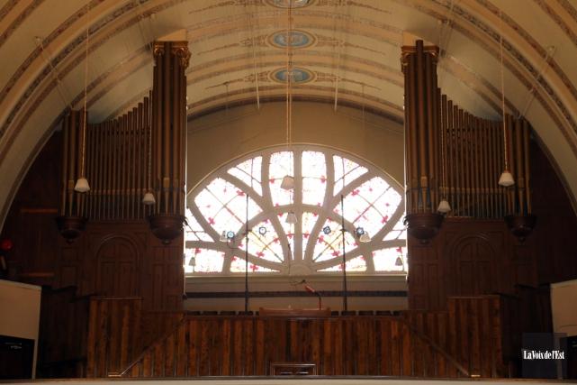 L'orgue Casavant de l'église Notre-Dame à Granby.... (Alain Dion, La Voix de l'Est)