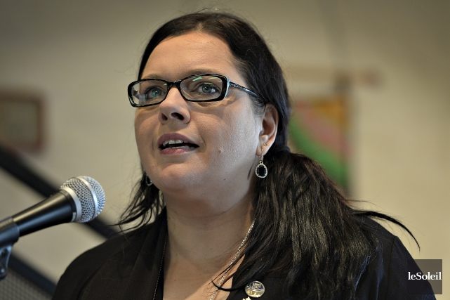 La députée libérale Caroline Simard... (Le Soleil, Patrice Laroche)