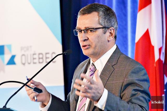 Le président-directeur général de l'Administration portuaire de Québec,... (Photothèque Le Soleil, Patrice Laroche)
