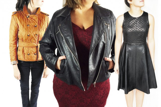 Manteau Burberry, 300 $ (seconde main);manteau en cuirette... (Fournies par Deuxième édition)