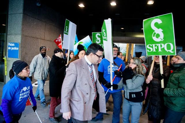 Le gouvernement du Québec voulait empêcher le Syndicat... (PHOTO ALAIN ROBERGE, LA PRESSE)
