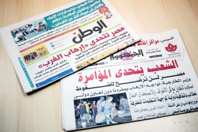 Les médias égyptiens critiquent vivement les pays occidentaux... (PHOTO AP)