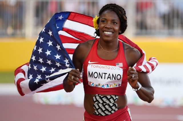 L'Américaine Alysia Montano réclame la médaille de bronze... (Photo John David Mercer, archives USA Today)