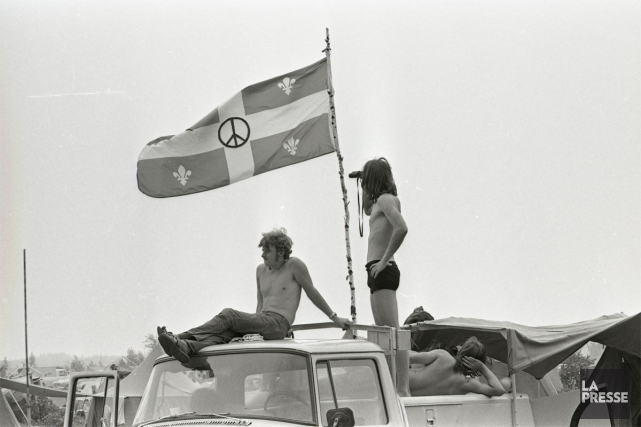 Un an après le festival de Woodstock qui... (PHOTO MICHEL GRAVEL, ARCHIVES LA PRESSE)
