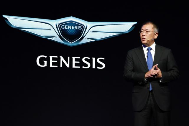 Le vice-président du conseil d'administration de Hyundai, Chung... (Photo AFP/Hyundai)