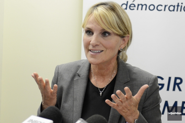 La conseillère municipale Josée Néron.... ((Photo Le Quotidien, Jeannot Lévesque))