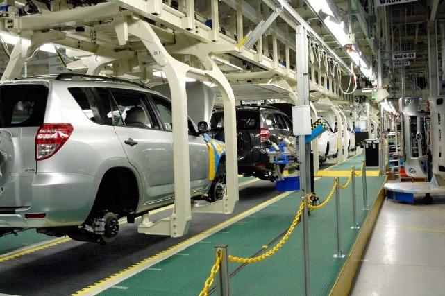 Une usine de Toyota en Ontario.... (Photo d'archives)
