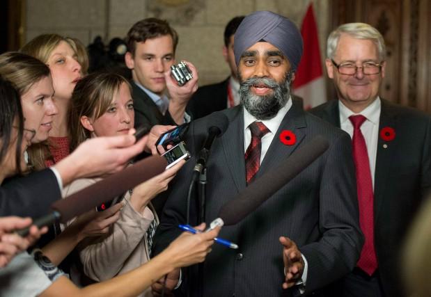Harjit Singh Sajjan est le nouveau ministre de... (photoJustin Tang, la presse canadienne)