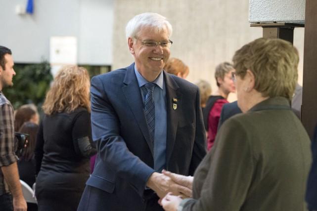 Daniel McMahon, seul candidat au rectorat de l'UQTR,... (Stéphane Lessard)