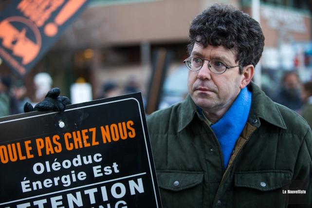 Le porte-parole du Comité vigilance hydrocarbures de Trois-Rivières,... (Olivier Croteau, Le Nouvelliste)