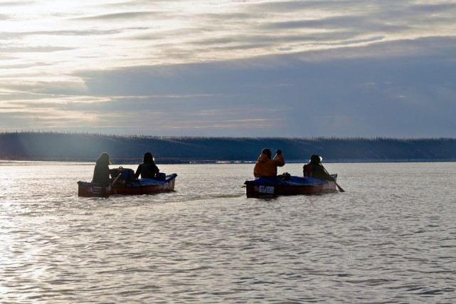 L'épopée vers le nord a offert aux canoteurs... (fournie par les chemins de l'or bleu)