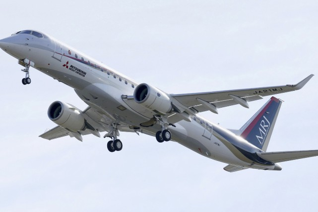 Le Mitsubishi Regional Jet (MRJ), aéronef de près... (Photo Associated Press)