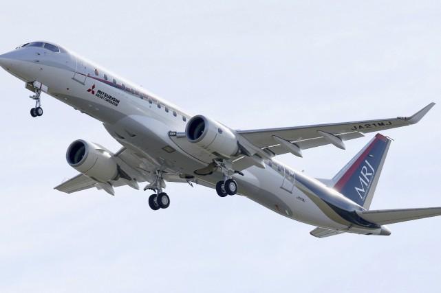 Le Mitsubishi Regional Jet (MRJ), aéronef de près... (Photo Associated Press)