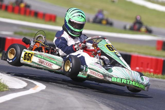 Le Granbyen Vincent Berthiaume vient de conclure une... (Fournie par la série G-Kart)