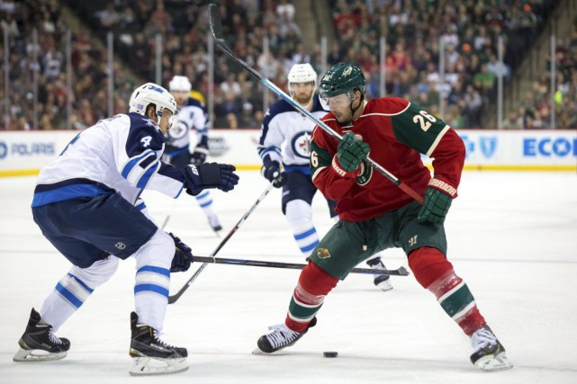 Thomas Vanek a marqué deux des quatre buts du Wild du Minnesota en deuxième... (PHOTO REUTERS)