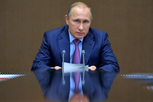 Le président russe Vladimir Poutine devait présider mercredi... (Photo AP)