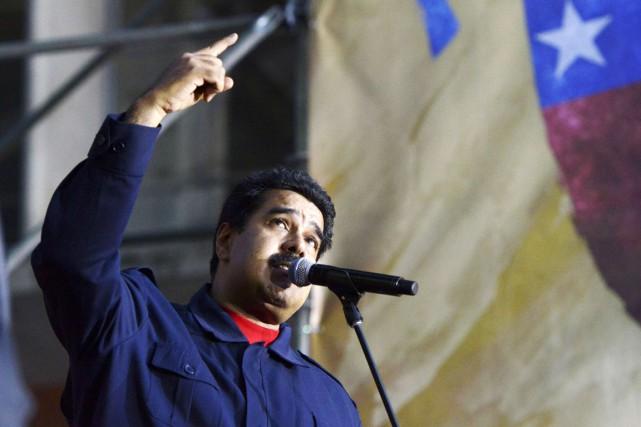 Le président du Venezuela Nicolas Maduro livre un... (PHOTO JUAN BARRETO, ARCHIVES AFP)