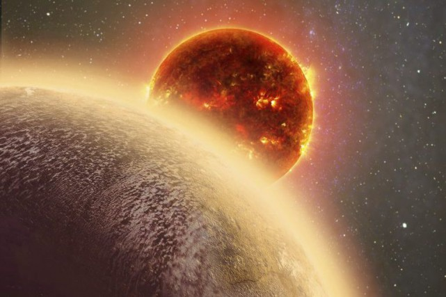 La planète GJ 1132b, est l'exoplanète de la... (PHOTO NASA VIA ASSOCIATED PRESS)