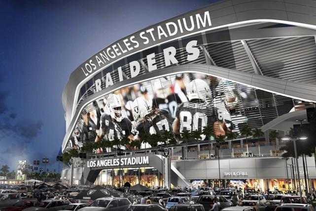 Les Raiders et les Chargers ont uni leurs... (ILLUSTRATION FOURNIE PAR AP)
